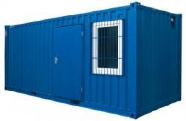 container avec fenêtre et porte