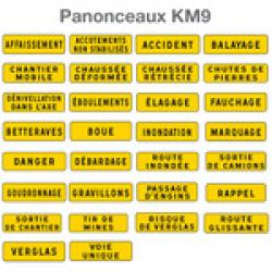 PANNEAU DE SIGNALISATION TYPE KM